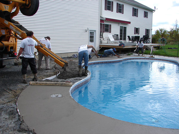 Vermont landscaping and residential concrete company for Concrete inground pools